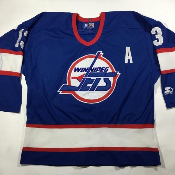 brand new ea86a a3130 Vintage starter Winnipeg jets hockey jersey